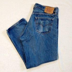 Levi's 501xx Button Fly Blue Denim Jean Size 38x30